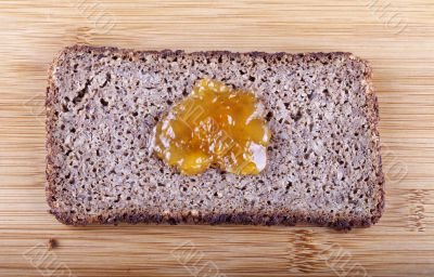 Jam on rye bread