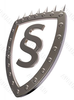 shield with paragraph symbol