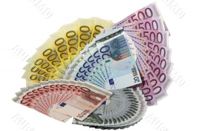 Many fans of euro banknotes