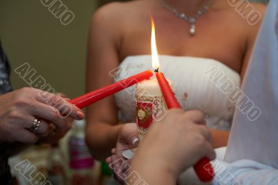 Parents pass on their newlywed home through flame