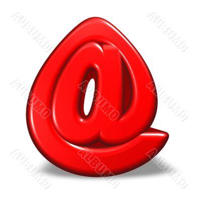 cartoon email symbol