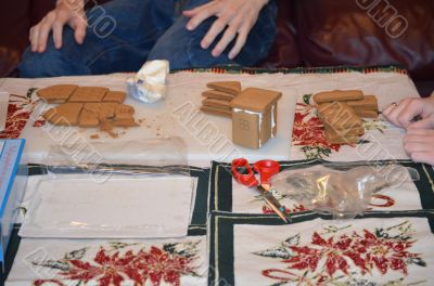 Gingerbread House of the rising dough