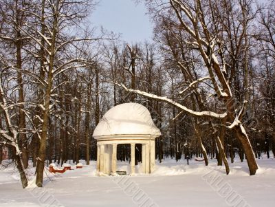 Old-time gazebo  with colonnade