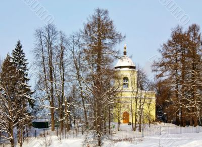 Ancient church among trees