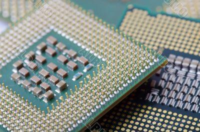 circuit board of laptop CPU  close-up