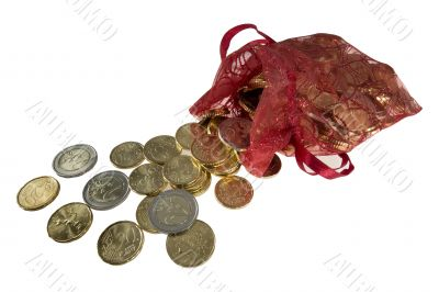 many euro coins come out of a bag