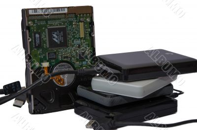 Set of hard drives
