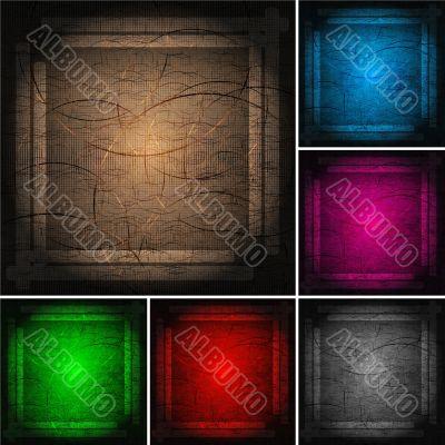 Set of bright frameworks (eps 10)
