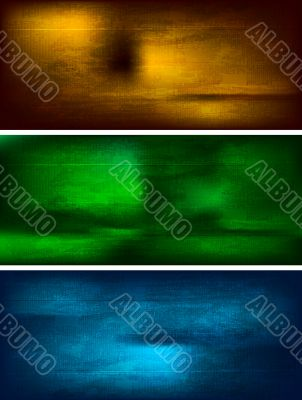 Set of textural banners