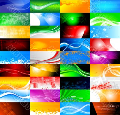 36 abstract banners collection