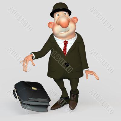 gentleman bureaucrat, clerk, scared loser.