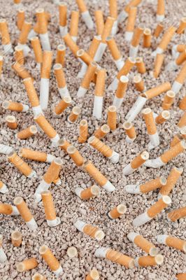 Cigarettes chaos from above