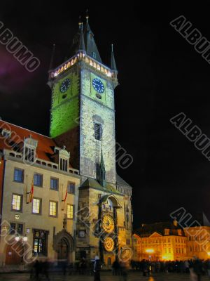 Prague chiming clock