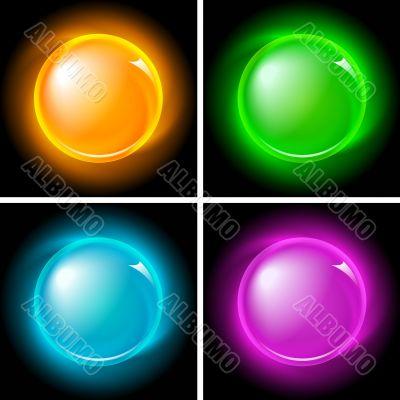 Buttons set (NO gradient mesh)