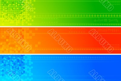 Abstract technical banners