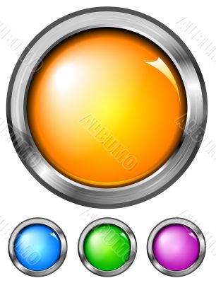 Set of buttons (NO gradient mesh)