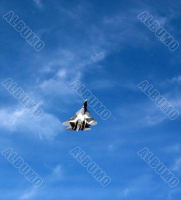 Fighter T-50 in sky