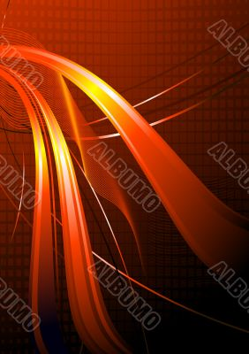 Orange wavy abstraction