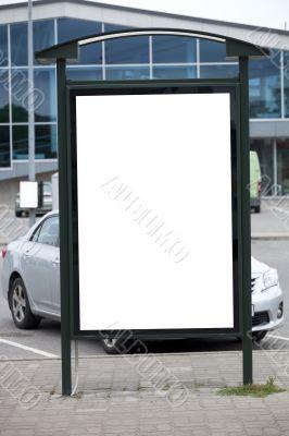 Blank bilboard stand