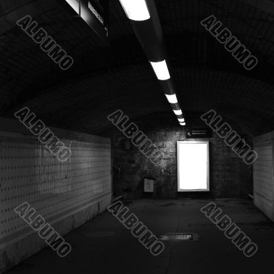 Railway station tunnel