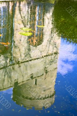 Reflection of the ancient tower