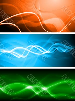 Vibrant banners. Vector illustration