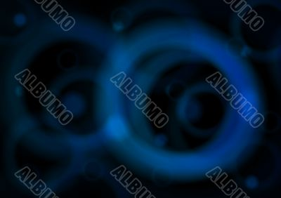 Blue circles on black