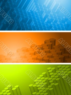 Technical vector banners collection