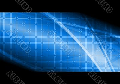 Blue technical banner