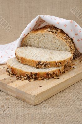 Whole wheat bread with grains