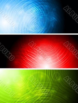 Bright vector banners collection