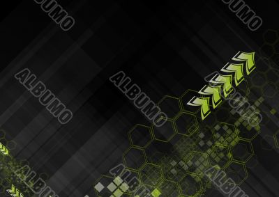 Hi-tech abstract backdrop
