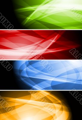 Colourful banners collection
