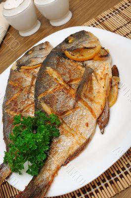 Baked fish with lemon Dorado