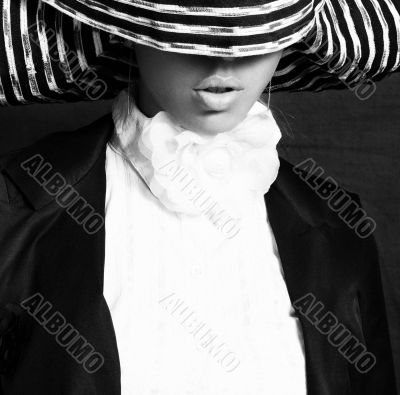 A lady in a hat