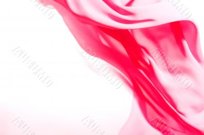 Beautiful background, flying pink fabric
