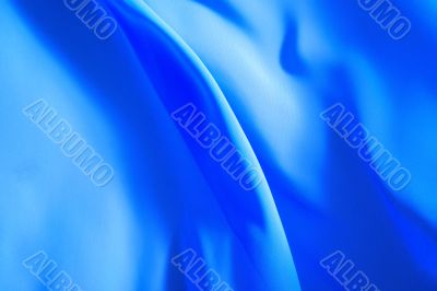 Beautiful background, flying blue fabric