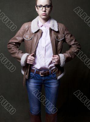 girl in jacket