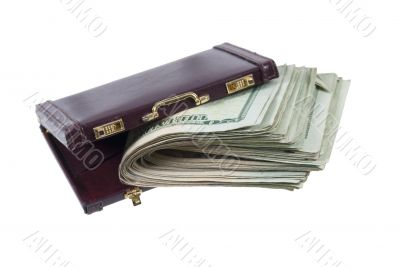 Briefcase With a Large Wad of Money