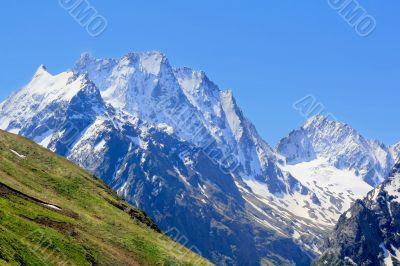 Rockies in Caucasus region in Russia