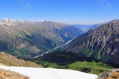 Mountains in Caucasus region in Russia