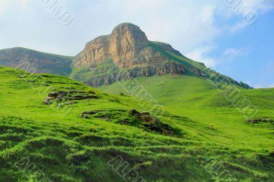 Caucasus green mountains