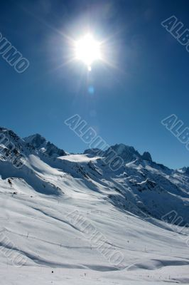 Alpine sun