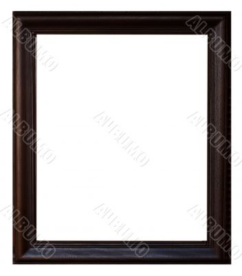 Black wood frame.