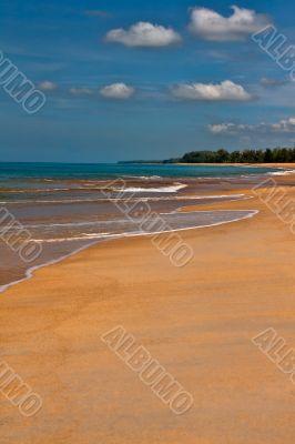 Tropical beach, sand and azure sea