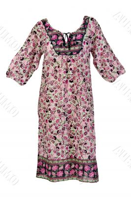 summer dress with floral pattern