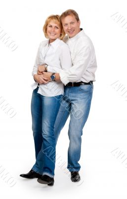 loving couple on the jeans