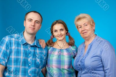 Happy family in the two-party