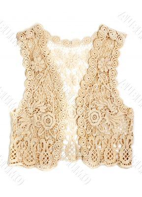 Women`s Vest Beige lace