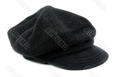 Warm black women`s cap